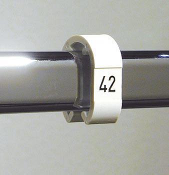 Größenkennzeichnungsring schwarz mit Ziffern