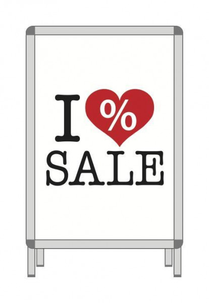 Papierplakat - I love Sale