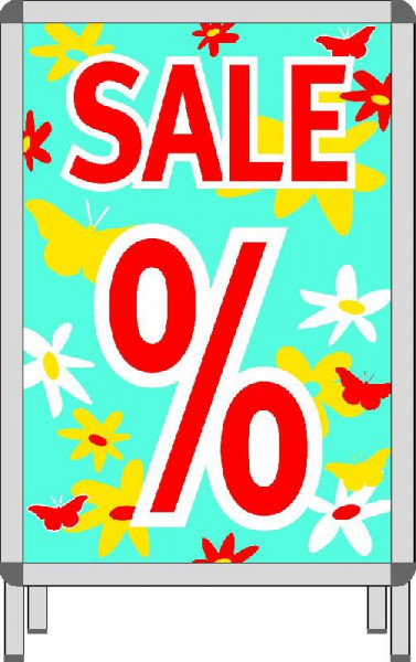 Rahmenplakat % Sale