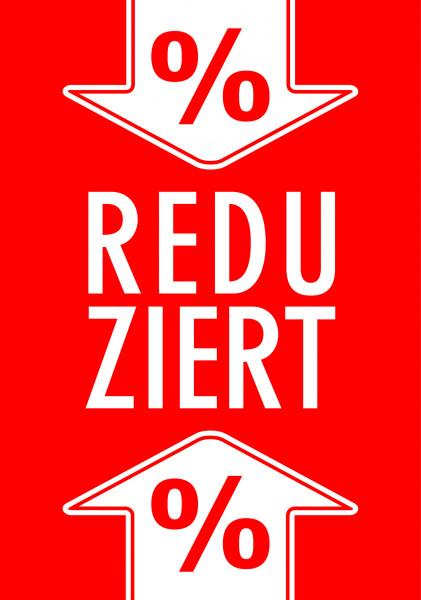 """Rahmenschild """"Reduziert-%_Pfeil"""""""