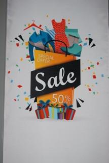 Stoffbanner Funny Sale