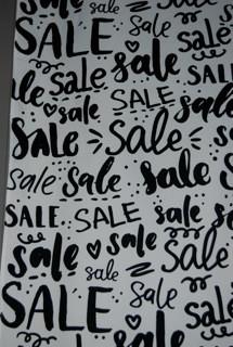 Stoffbanner Sale-Black