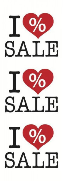 Papierplakat I love Sale