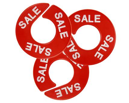 Ringscheibe signalrot - Aufdruck: Sale