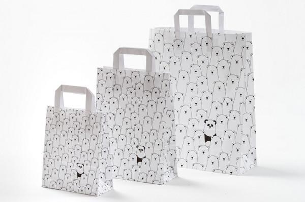 Papiertragetasche Panda