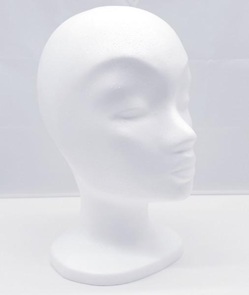 Perückenkopf MONA - rohweiss