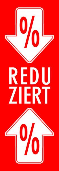 "Plakat ""Reduziert-%_Pfeil"""
