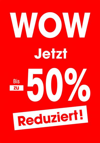 """Plakat """"WOW"""" bis zu -50% reduziert"""
