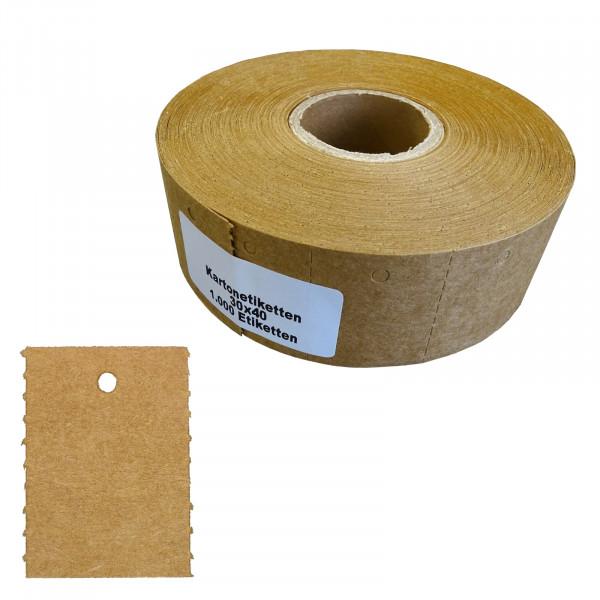 Karton-Etiketten auf Rolle