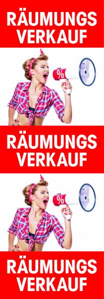 """Plakat """"Räumungsverkauf-Megaphon"""""""