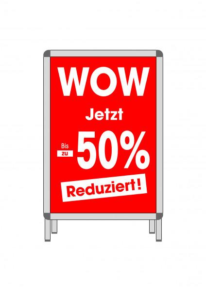 """Rahmenplakat """"WOW"""" bis zu -50% reduziert"""