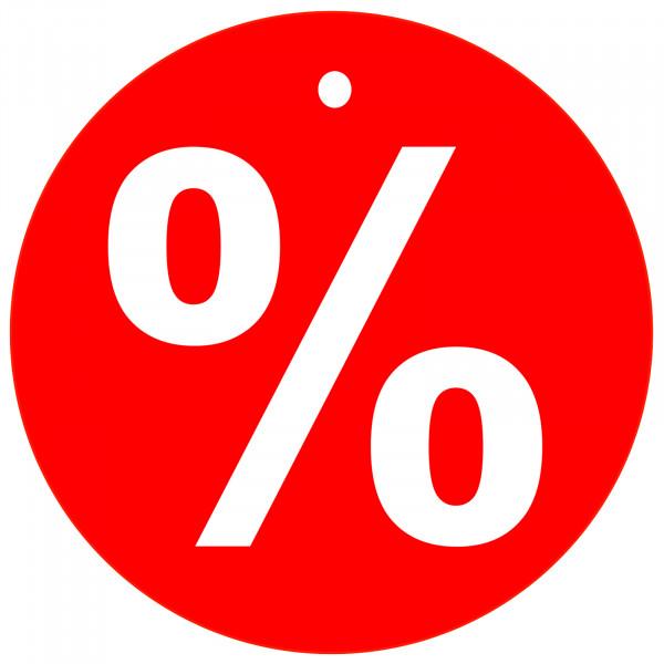 Kartonetiketten - % -