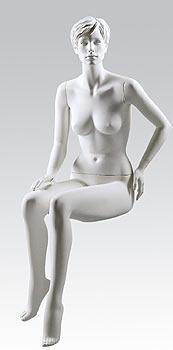 Mannequin Irene - weiß - sitzend
