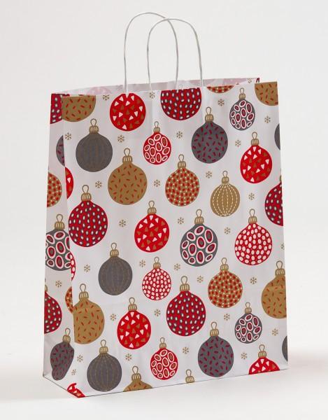 Papiertragetasche Weihnachtskugel